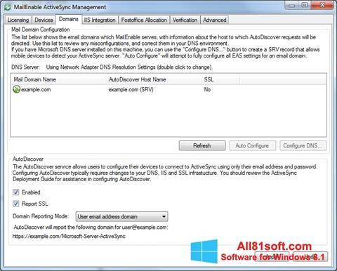 Screenshot Microsoft ActiveSync Windows 8.1