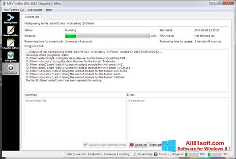 Screenshot MKVToolnix Windows 8.1