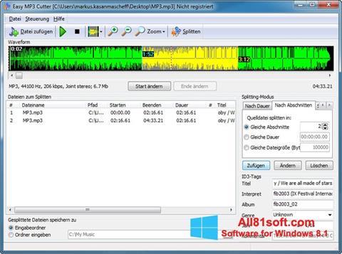 Screenshot MP3 Cutter Windows 8.1