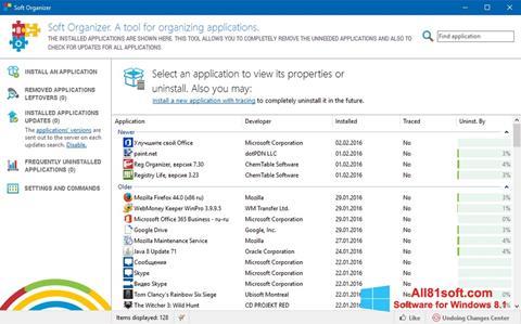 Screenshot Soft Organizer Windows 8.1
