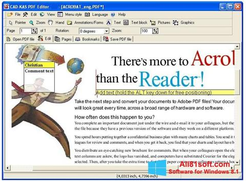 Screenshot PDF Reader Windows 8.1