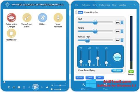 Screenshot AV Voice Changer Diamond Windows 8.1
