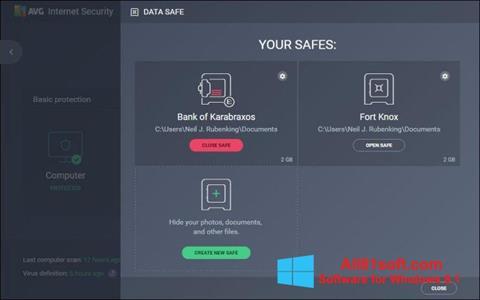 Screenshot AVG Internet Security Windows 8.1