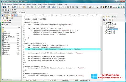 Screenshot PSPad Windows 8.1