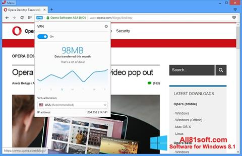 Screenshot Opera Windows 8.1