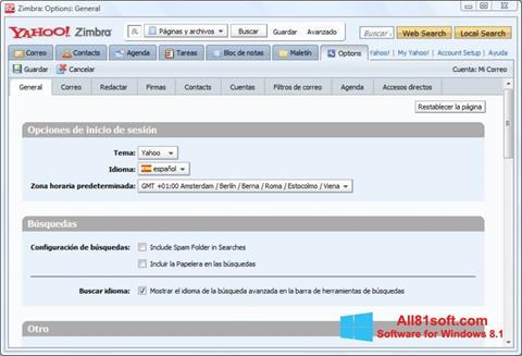 Screenshot Zimbra Desktop Windows 8.1