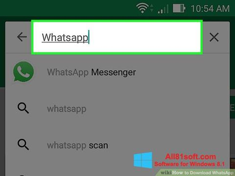 Screenshot WhatsApp Windows 8.1